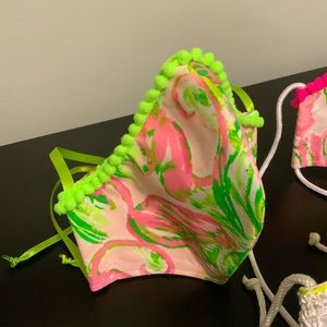 Lilly Pulitzer Accessories - Bundle 3 Lilith Pulitzer Handmade Mask